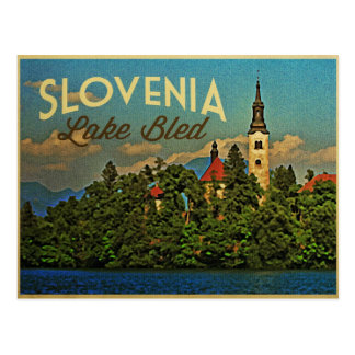 Lake Bled Slovenia Postcard