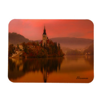 Lake Bled Sunset | Natural Beauty of Slovenia Magnet