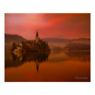 Lake Bled Sunset | The Natural Beauty of Slovenia Poster