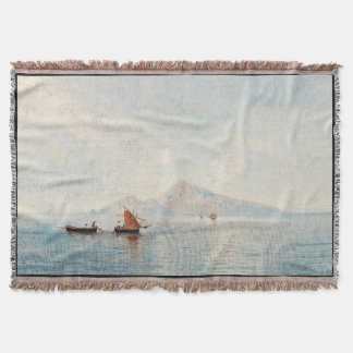 Lake Boats Mountain Camanella Europe Throw Blanket
