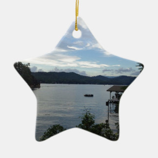 Lake Burton View Ceramic Ornament