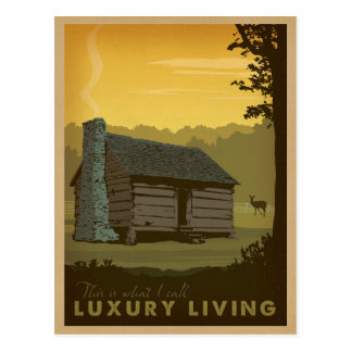 Lake Cabin - Luxury Living Postcard