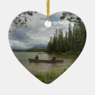 Lake Canoeing Ceramic Ornament