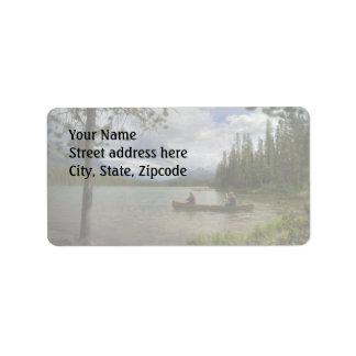 Lake Canoeing Label