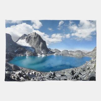 Lake Catherine and Banner Peak - Sierra Nevada Kitchen Towel