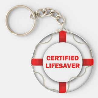 Lake Certified Lifesaver Basic Round Button Keychain