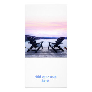 Lake chairs photo cards