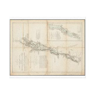 Lake Champlain and Lake George Historic 1762 Map Canvas Print