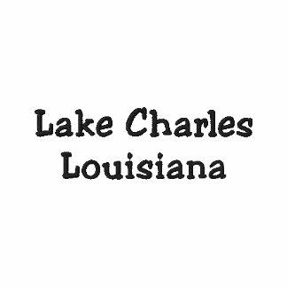 Lake Charles Louisiana LA Shirt - Customizable !!! Embroidered Polo Shirt