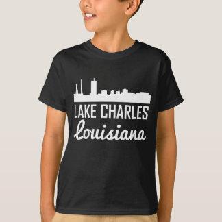 Lake Charles Louisiana Skyline T-Shirt