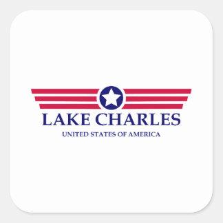 Lake Charles Pride Square Sticker