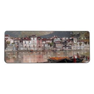 Lake Como Italy Houses Boats Wireless Keyboard