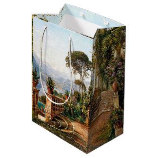 Lake Como Italy Lodge Flowers Balcony Gift Bag