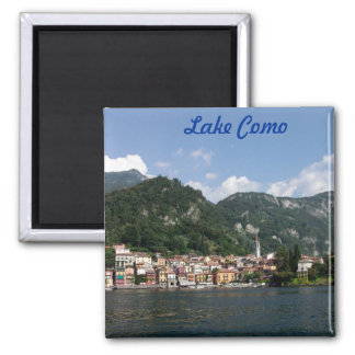 Lake Como Square Magnet