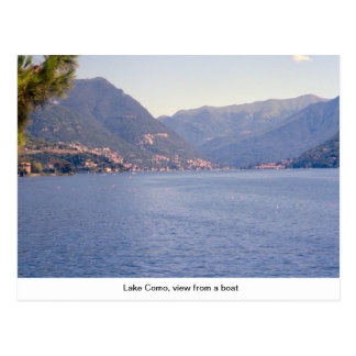 Lake Como, view from a boat Postcard
