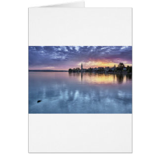 lake Constance Christmas city lights landscape Card
