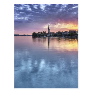 lake Constance Christmas city lights landscape Postcard
