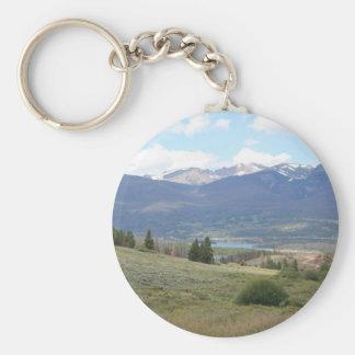 Lake Dillon Basic Round Button Keychain