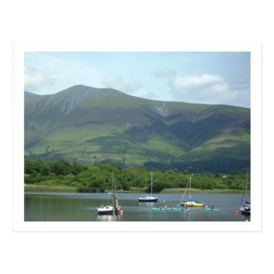 Lake District Mountain & boats Postcard