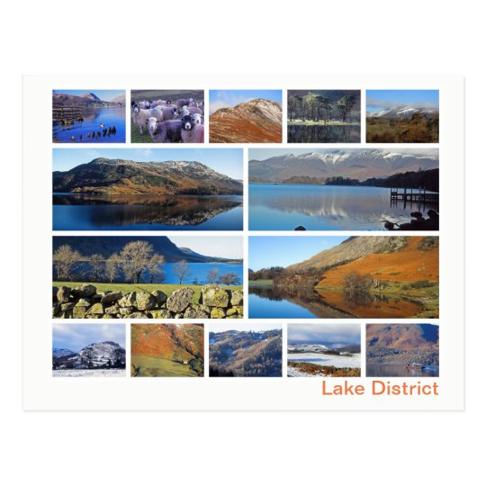 Lake District multi-image Postcard