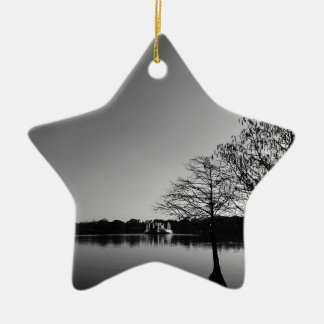 Lake Downtown Ceramic Ornament