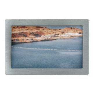 lake edge of glory rectangular belt buckle