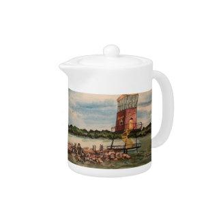 Lake Erie Causeway, Sandusky Ohio Small TeaPot