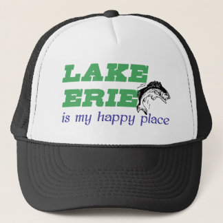 Lake Erie is my happy place Trucker Hat
