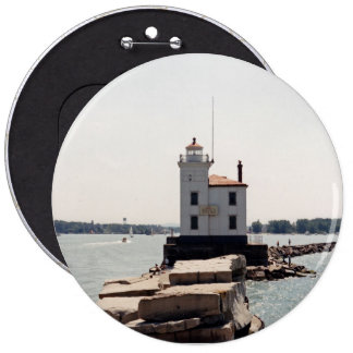 Lake Erie Lighthouse 6 Inch Round Button