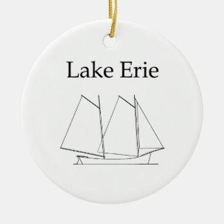 Lake Erie Sailboat Ceramic Ornament