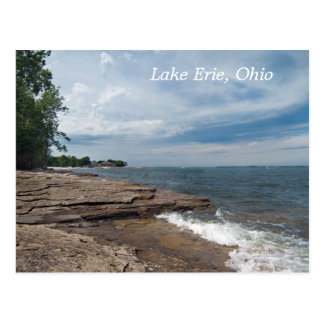 lake Erie Shore  Postcard