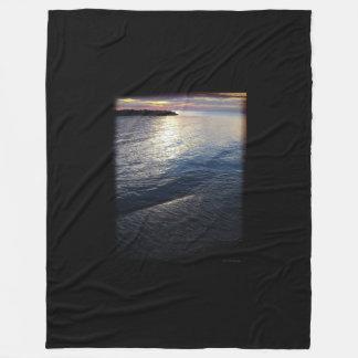 Lake Erie Sunset Fleece Blanket