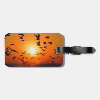Lake Erie Sunset Luggage Tag