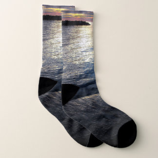 Lake Erie sunset socks 1