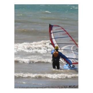 Lake Erie surfing-Buffalo, NY Postcard