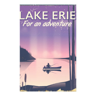 Lake Erie travel poster Stationery