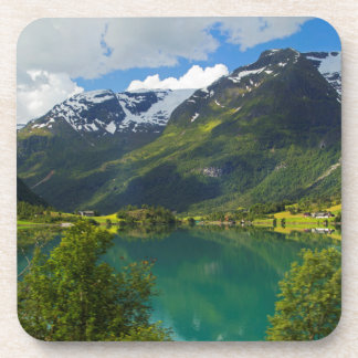 Lake Floen scenic, Norway Drink Coasters