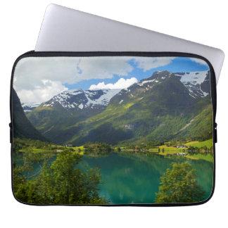 Lake Floen scenic, Norway Laptop Sleeve