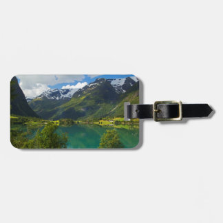 Lake Floen scenic, Norway Luggage Tag