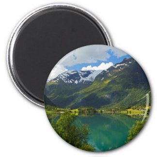 Lake Floen scenic, Norway Magnet