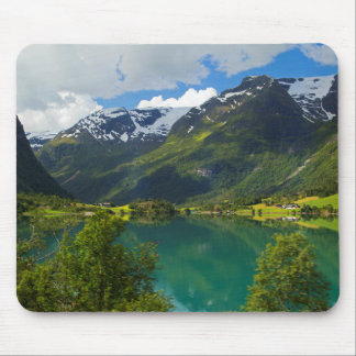 Lake Floen scenic, Norway Mouse Pad
