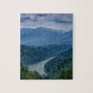 lake fontana aerial great smoky mountains north ca jigsaw puzzle
