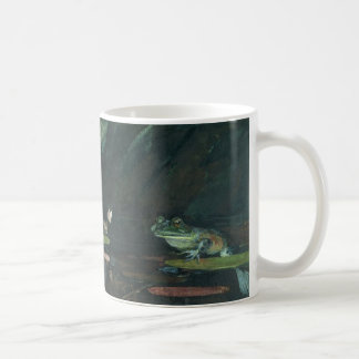 Lake, frog and flower coffee mug