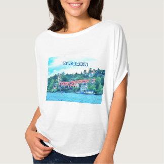 Lake front houses, Sweden T-Shirt