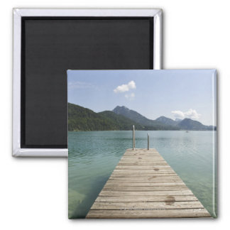 lake fuschl, salzkammergut, salzburg, salzburger 4 square magnet
