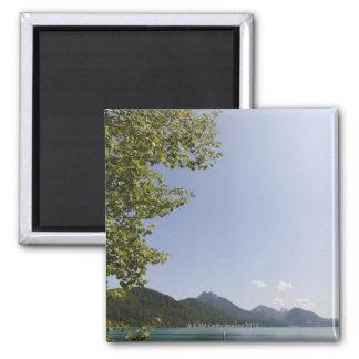 lake fuschl, salzkammergut, salzburg, salzburger 5 square magnet