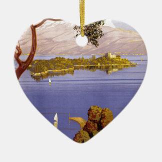 Lake Garda Ceramic Ornament