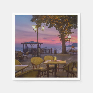 Lake Garda spectacular sunset Napkin