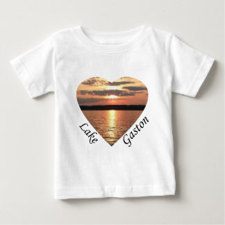 Lake Gaston Sunset Heart With Lake Gaston Text Baby T-Shirt