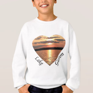 Lake Gaston Sunset Heart With Lake Gaston Text Sweatshirt